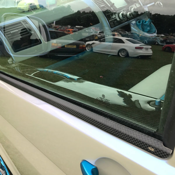 Window Sill Trims for VW T6 Transporter Range Carbon Fiber Film-0