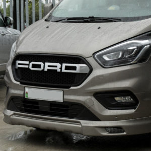 Transit Custom New Shape Front Grille FORD Matte Chrome Styling