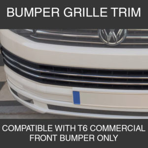 Front Bumper Trim For VW T6 Transporter Stainless Steel