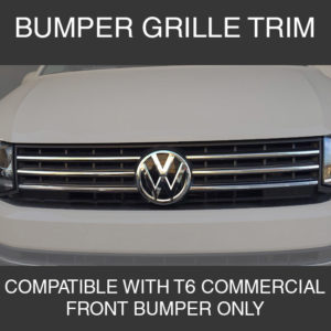 Front Grille Trim For VW T6 Transporter Stainless Steel