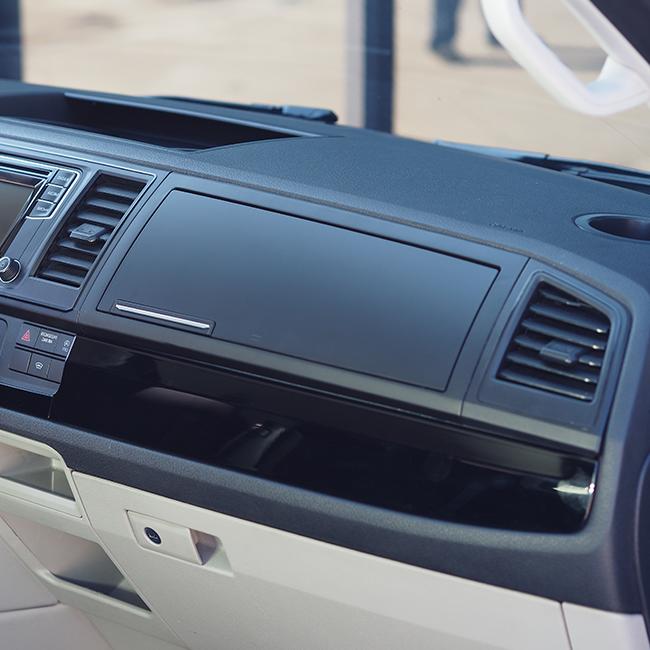 Arrière Seuil pour VW T6 Hayon en plastique ABS pleine longueur