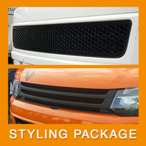 VW T5.1 Transporter Van Front Styling Matte Package (2pcs)