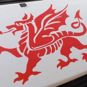 VW T5, Bonnet Bra (Welsh Dragon) White
