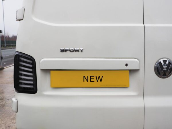 VW T5, T5.1, T6 Barn door Number Plate Unit Modified Version