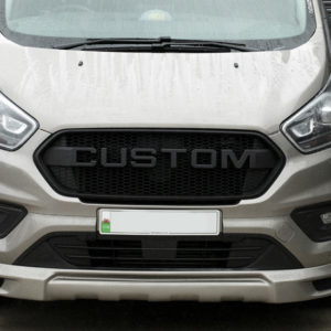 Transit Custom New Shape Front Grille CUSTOM Matte Black Styling