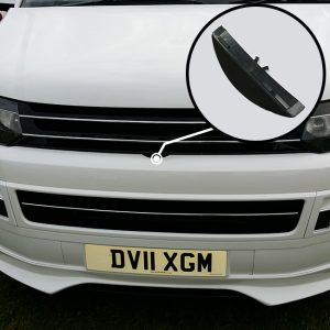 Front Badgeless Grille For VW Volkswagen T5.1 (Piano Black)
