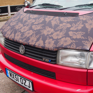 VW T4 Transporter Bonnet Bra, Cover Flowers HD Print