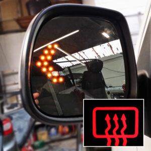 LED Wing Mirror Lens For VW T5.1 / T6 Heated