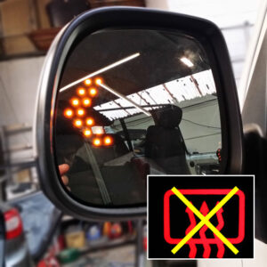 LED Wing Mirror Lens For VW T5 Non-Heated