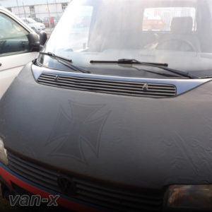 VW T4 S.Nose Bonnet Bra, Cover Black Iron Cross