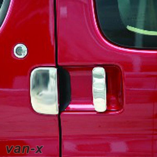 Door Handle Covers (5 Pcs) For Citroen Berlingo / Peugeot Partner Stainless Steel