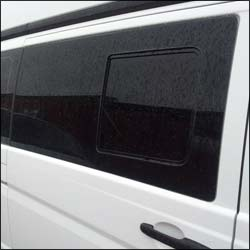 Mercedes Vito Smoked Side Window Sliding Glass