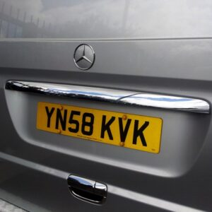 Mercedes Vito Tailgate Number Plate Trim
