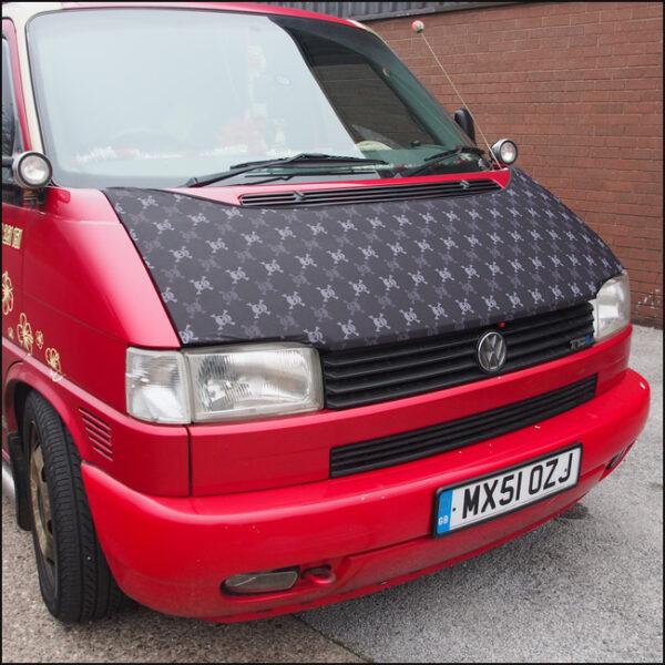VW T4 Transporter Bonnet Bra, Cover Skulls HD Print