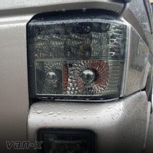 VW T4 Transporter Rear LED Lights and Fog Light Units Smoked / Chrome