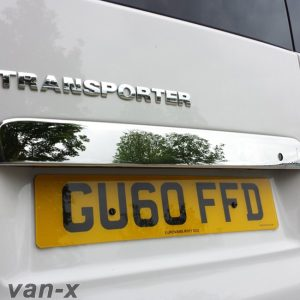 Stainless Steel Number Plate Trim For Barndoor VW T5 Transporter