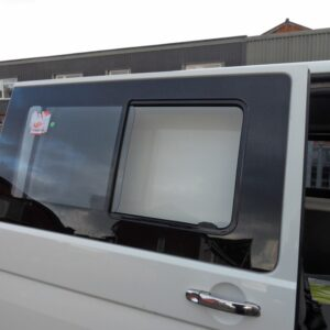 Side Sliding Window Smoked Glass For VW T6 Transporter (B Grade)