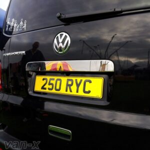 Number Plate Trim For Tailgate VW T5 Transporter Stainless Steel