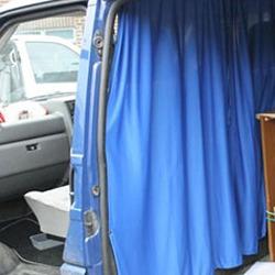 Farbe grau Van-X für Ford Transit Custom Fahrerhaus // Führerhaus Gardinen Set
