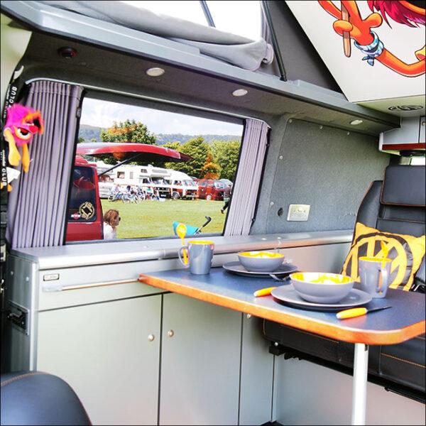 Mercedes Vito Bare-Metal Interior Premium 2 x Side 1 x Barndoor Window Curtains Van-X