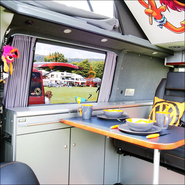 VW Caddy Premium 1 x Tailgate Window Curtains Van-X