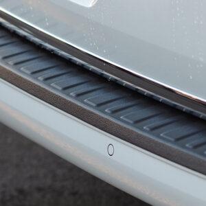 Stoßstangenschutz, hinten, Plastik Ausführung, schwarz, VW T6, Heckklappe, Van-X