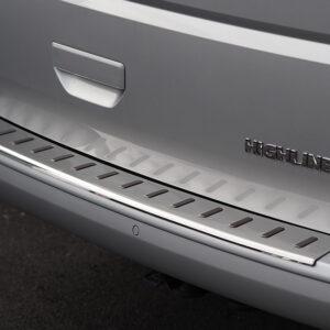 Stoßstangen Protector, hinten, Edelstahl, Version für Heckklappe, VW T6, Van-X